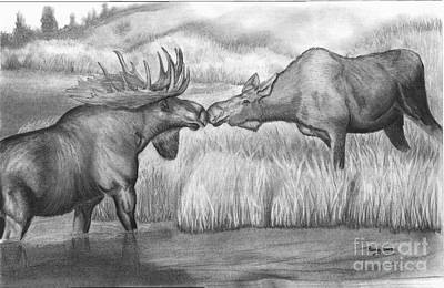 Moose Looking For Love Art Print by Russ  Smith