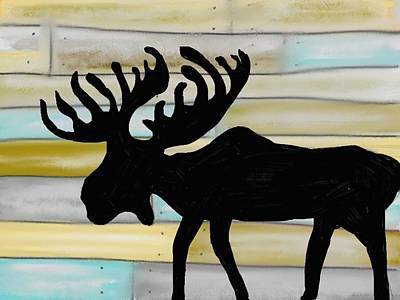 Digital Art - Moose by Paula Brown