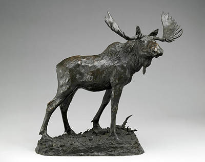 Photograph - Moose Sculpture by Rospotte Photography