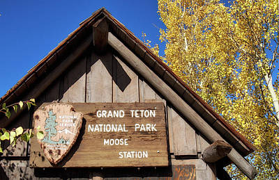 Photograph - Moose Station Entrance by Shirley Mitchell