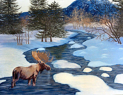 Painting - Moose by Terri Mills