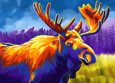 Painting - Moose by Tim Gilliland