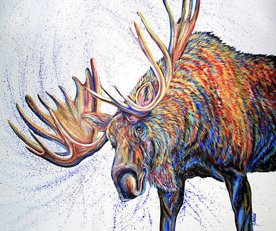 Painting - Moose Wallow by Teshia Art