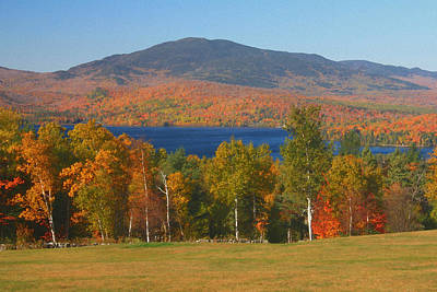 Greenville Photograph - Moosehead Lake In Autumn by John Burk