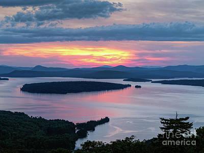 Photograph - Mooselookmeguntic Lake At Sunset, Rangeley, Me  -63430-v1 by John Bald