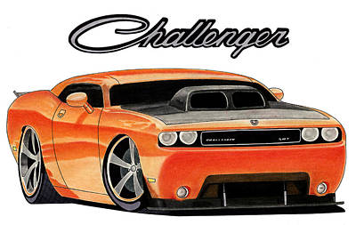 Mopar Art Print by Lyle Brown