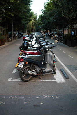 Photograph - Moped Line by Kelly Smith