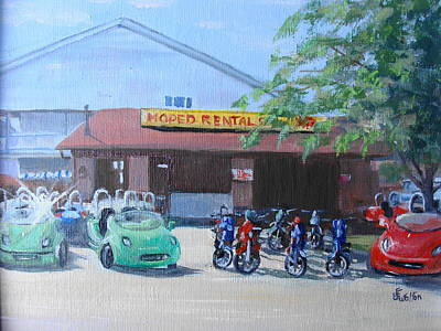 Painting - Moped Rental by Judy Fischer Walton
