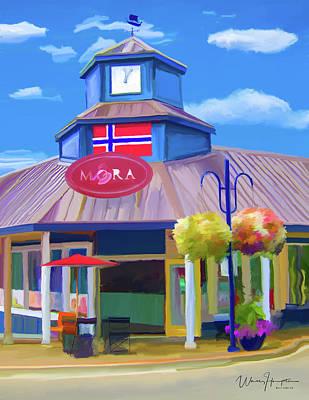 Mora Painting - Mora Iced Cream Poulsbo Wa by Wally Hampton