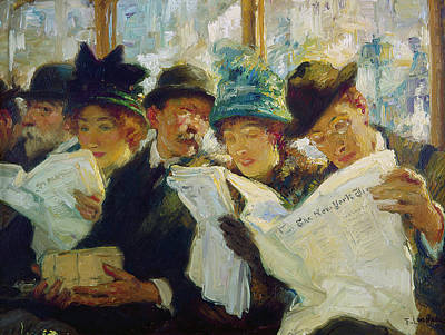 Painting - Mora Morning News C1912 by Granger