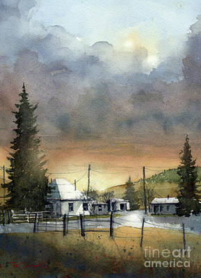 Painting - Mora Valley Farm by Tim Oliver