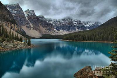 Photograph - Moraine Emerald Reflections by Adam Jewell