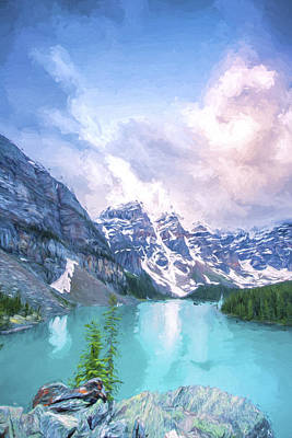 Digital Art - Moraine Cloud Bursting II by Jon Glaser
