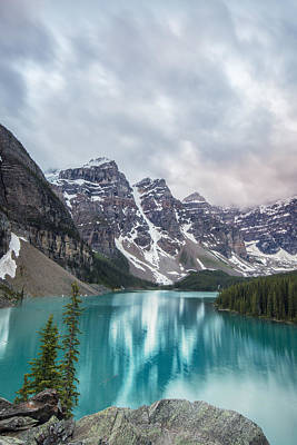 Banff Wall Art - Photograph - Moraine In The Summer by Jon Glaser