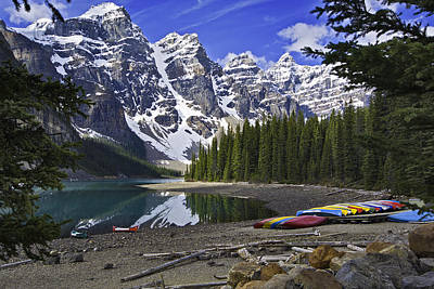 Photograph - Moraine Lake 2 by Paul Riedinger