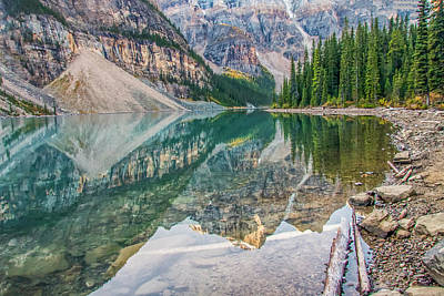 Photograph - Moraine Lake 2009 04 by Jim Dollar