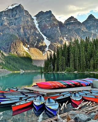 Photograph - Moraine Lake 8x10 by Frozen in Time Fine Art Photography