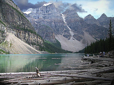 Photograph - Moraine Lake  Banff National Park by George Cousins