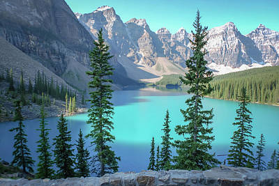Photograph - Moraine Lake Banff National Park by Terry DeLuco