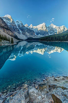 Photograph - Moraine Lake Blues by Pierre Leclerc Photography