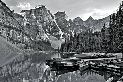 Photograph - Moraine Lake Charcoal by Frozen in Time Fine Art Photography