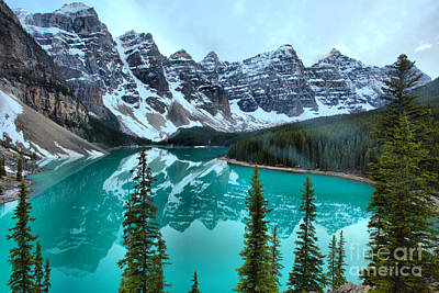 Photograph - Moraine Lake Emerald Water Reflections by Adam Jewell