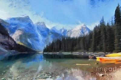 Digital Art - Moraine Lake by Eva Lechner
