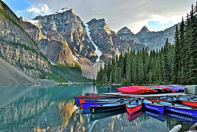 Photograph - Moraine Lake  by Frozen in Time Fine Art Photography