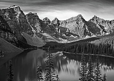 Photograph - Moraine Lake Glow by Angie Schutt