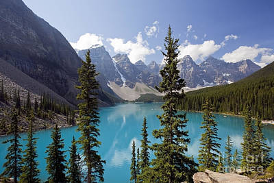 Photograph - Moraine Lake In Banff National Park by Bryan Mullennix