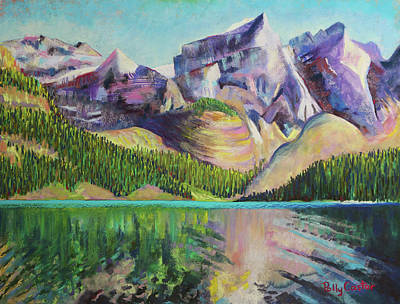 Painting - Moraine Lake by Polly Castor