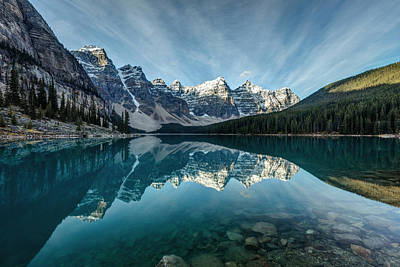 Photograph - Moraine Lake Reflection by Pierre Leclerc Photography