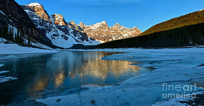 Photograph - Moraine Lake Spring Sunrise Panorama by Adam Jewell