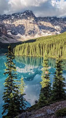 Alberta Photograph - Moraine Lake Summer Morning Vertical by Joan Carroll