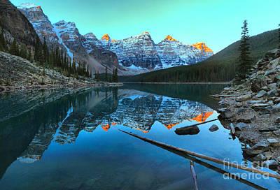 Photograph - Moraine Lake Sunrise by Adam Jewell