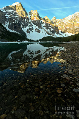 Photograph - Moraine Lake Sunrise Portrait by Adam Jewell