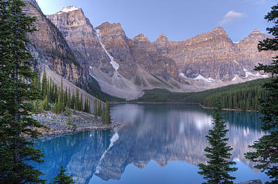 Moraine Lake - Valley Of The Ten Peaks Art Print by Darlene Bushue