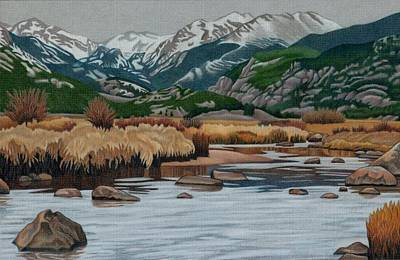 Drawing - Moraine Park by Dan Miller
