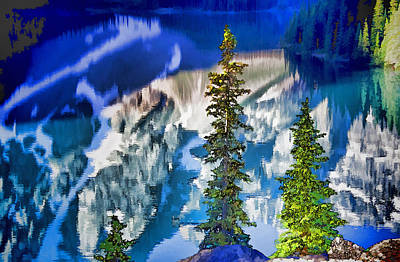 Moraine Reflections Art Print by Dennis Cox WorldViews
