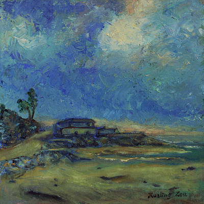 Painting - Moran Lake Santa Cruz California Landscape 9 by Xueling Zou
