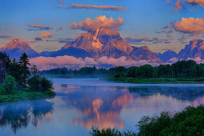 Photograph - Moran Morning At Oxbow Bend by Greg Norrell