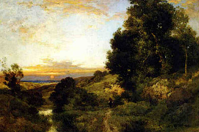 Moran Thomas A Late Afternoon In Summer Art Print