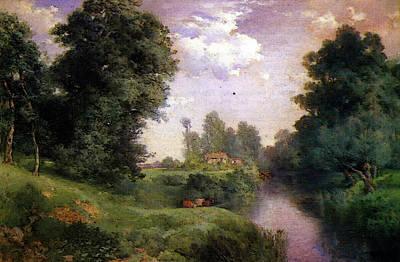 Moran Thomas A Long Island River Art Print