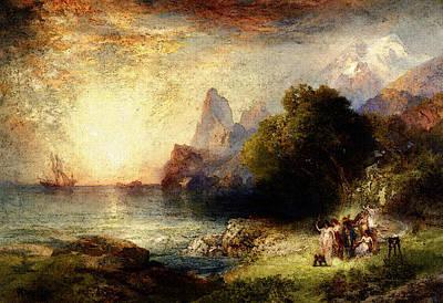 Moran Thomas Ulysses And The Sirens Art Print