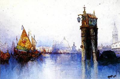 Moran Thomas Venetian Canal Scene Art Print