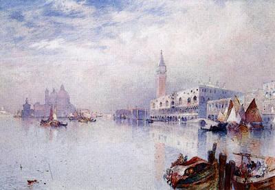 Moran Thomas Venetian Scene Art Print