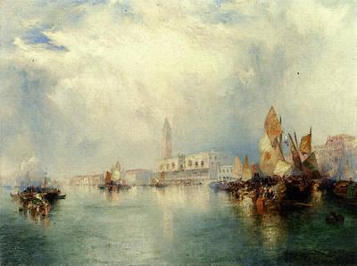 Moran Thomas Venice Grand Canal Art Print