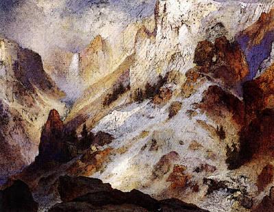 Moran Thomas Yellowstone Canyon Art Print