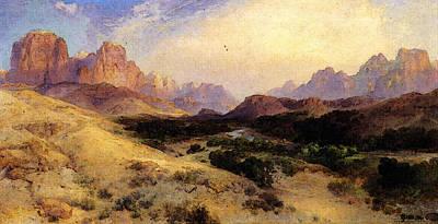 Moran Thomas Zion Valley South Utah Art Print