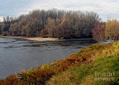 Digital Art - Morava Danube Confluence by Leo Symon